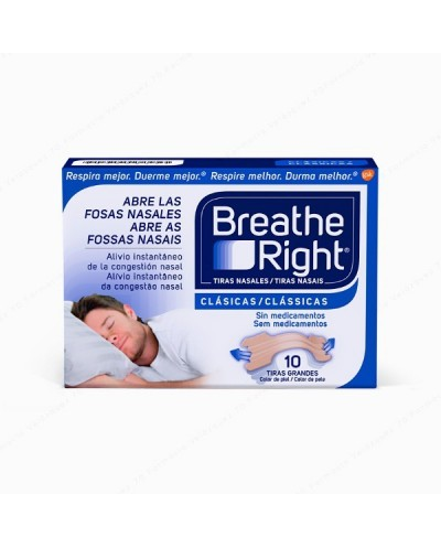 Breathe Right Clásicas 10 Tiras Grandes